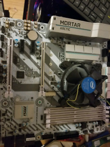 Gaming motherboard and cpu