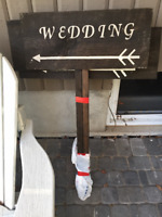 Wedding Direction and Parking signs $40 OBO