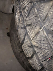 4 mth old 215 60 16 Bridgestone Blizzak winter tires on VW rims