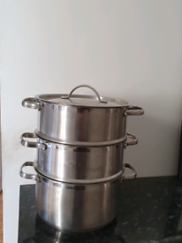 3Tier Steaming Pots-Stainless Steel