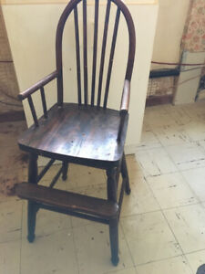 Antique Highchair (decorative only)