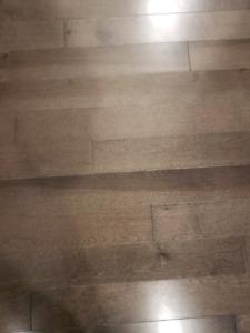 Plancher de bois franc merisier