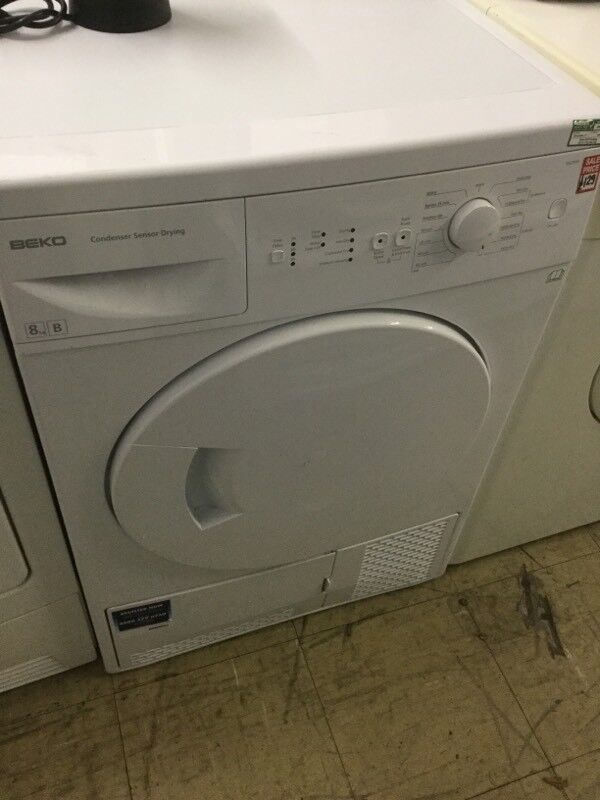 Beko white Condenser tumble dryer large 8kg