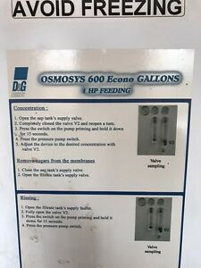 Reverse osmosis 600 gph        8000$ negotiable  West Island Greater Montréal image 2