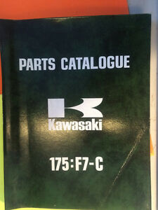 1974 1975 Kawasaki 175:F7-C 175:F7-D Parts Catalogue