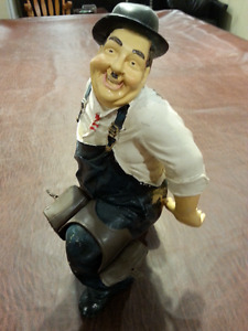 """1960's Laurel and Hardy """" Hardy statue"""