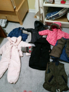 Infant to toddler winter coats and jackets