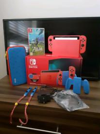 Nintendo switch with zelda BOTW.