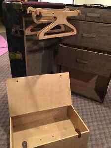 Antique McBrine Baggage Steamer Trunk