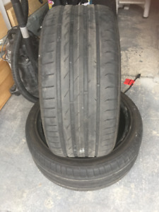 2 Summer Tires Nokian  245/40/18 Very Good Cond