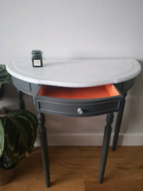 Gorgeous marble effect half moon console table