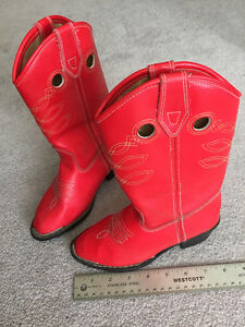 WESTERN COWBOY/GIRL RED BOOTS