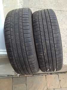2  PNEUS / 2 ALL SEASON TIRES  225/55/17 GOODYEAR EAGLE