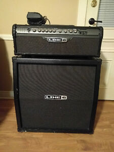 Line 6 Spider II Head and 4x12 Cab with Footswitch