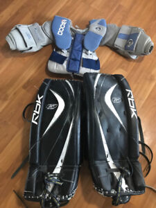 Goalie pads and chest protector