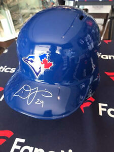 Devon Travis autographed helmet with COA