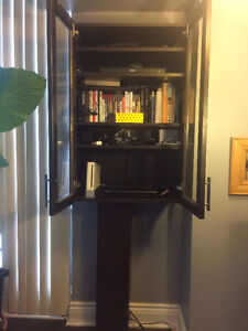 Solid Wood Shelving Unit for Books or Electronics