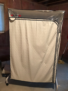 Lee/Rowan Portable Clothes Storage Rack and Cover