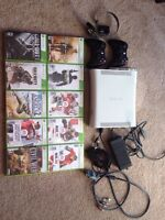 Xbox 360 + 10 Games and 2 Controllers