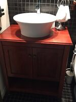 Vanity kitchen cabinet sink