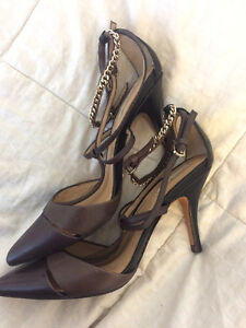 Massimo Dutti (Real Leather) brown heels