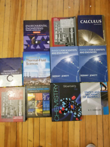 First and second year engineering textbooks