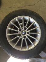 BMW rims with rubber.