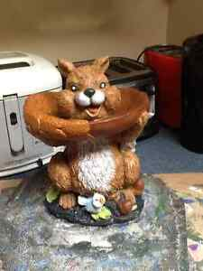 Stained concrete small Squirrel Bird Feeder New this season
