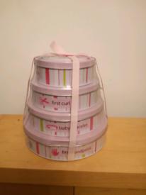 Baby 1st Keepsake tins