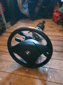 BMW e90 320d 2006 Steering wheel airbag cloum shaft and more