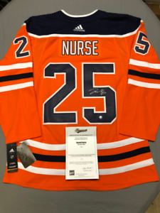 Signed Licensed NHL Jersey with COA: Oilers - DARNELL NURSE