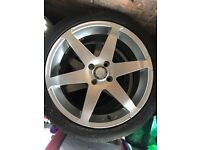 "Alloy wheels 17"" 6 spoke 4 stud VW alloys (with tyres)"