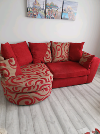 3 Seater Sofa and large swivel cuddle chair