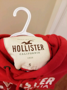 Red Hoodie by Hollister- Size Small