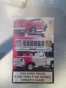 1979 Ford truck owners manuel