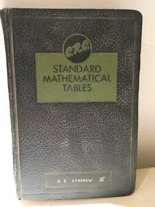 Vintage standard mathematical tables book