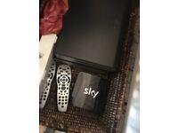 3 Sky HD Boxes + remotes + sky hub