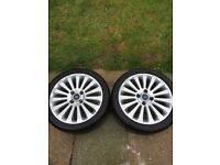 Ford Fiesta alloy wheels 195/45 r16 continental tyres