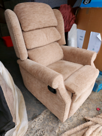 Chair - Quality Extra Comfy HSL Light Brownish Fabric Chair
