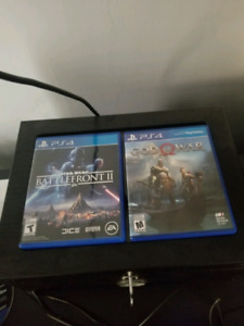 God of war and battlefront 2 for ps4 excellent condition