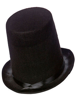 Adult New Stovepipe Magician Top Hat Victorian Old England Halloween Fancy Dress (Halloween Costumes England)