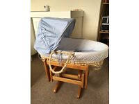 Mothercare Space Dreamer Moses basket & gliding stand