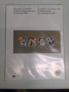 1981 SOUVENIR COLLECTION Stamps of Canada-Sealed Book