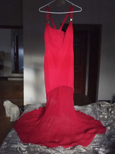 Gianni Versace Collection Gown Cherry Red size 40 xs/ 6 US