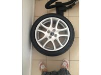Brand new Mazda 2 sport alloy wheel plus tyre