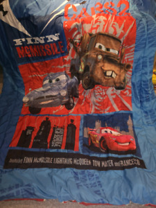 Cars 2 Twin Reversible Comforter and Sheet Set
