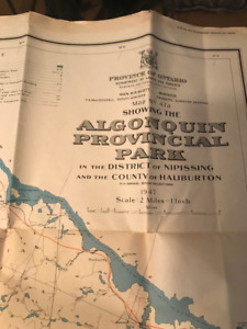 Map of Algonquin Provincial Park from 1947