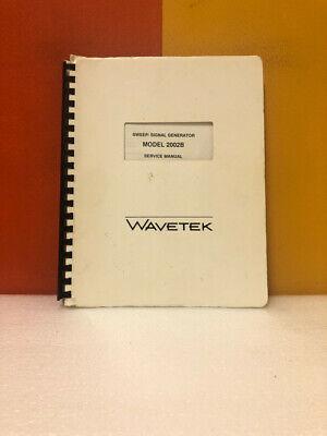 Wavetek Sweepsignal Generator Model 2002b Service Manual