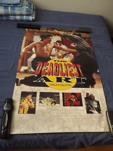 3 BRUCE LEE COLLECTORS ITEMS:MOVIE POSTER,THERMOS/MUG,PAPERBACK
