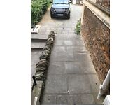 Stone effect grey paving slabs - 100 m2 for £1 if removed